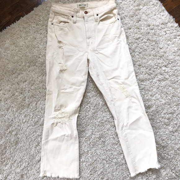Madewell Denim - off white made well jeans- mid waisted